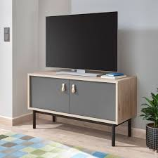 lowboard sven 104cm jackson hickory grau tv schrank wohnzimmer modern