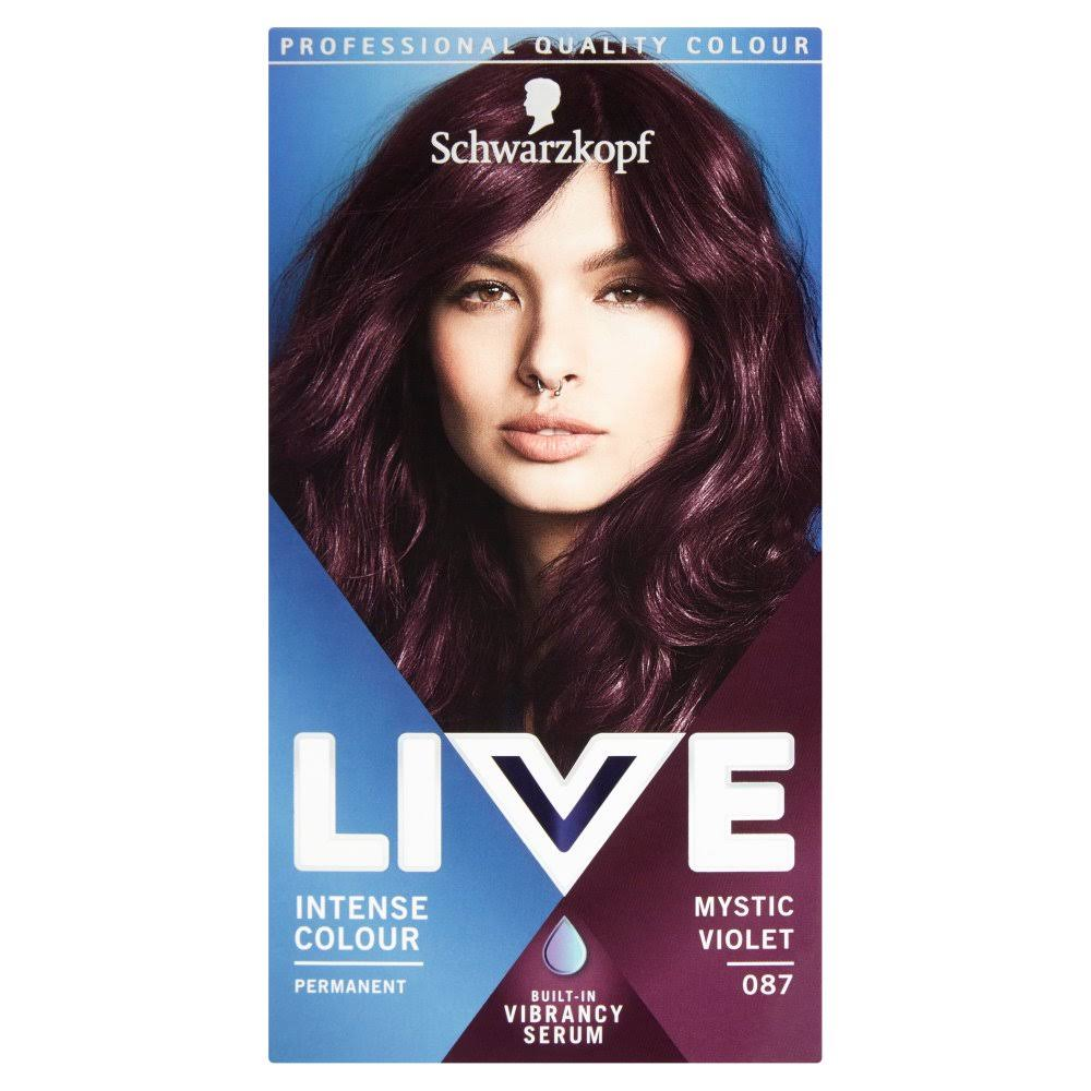Schwarzkopf Live Intense Colour Permanent Hair Dye - 087 Mystic Violet
