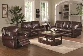 Pictures Gallery Of Outstanding Leather Sofa Living Room Brown Dark In Rustic