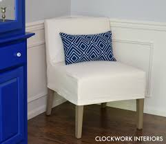 Armless Chair Slipcover Sewing Pattern by Diy Slipper Chair Slipcovers Clockwork Interiors