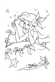 Ariel Coloring Pages To Print Mermaid Pinterest Coloriage