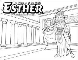 The Heroes Of Bible Coloring Pages Esther