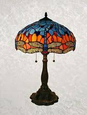Tiffany Style Glass Torchiere Floor Lamp by Dragonfly Lamp Shade Ebay