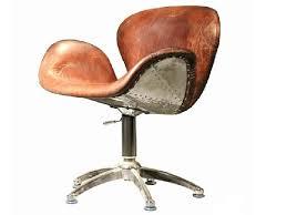 fauteuil bureau cuir vintage madame ki