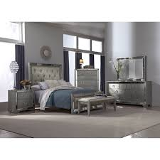 Mirrored Glass Bedroom Furniture Set