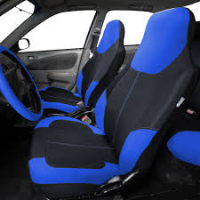 Neoprene Highback Front Bucket Seat Covers For Car SUV Van Blue ...