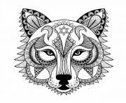 Wolf For Adult Anti Stress Coloring Pages