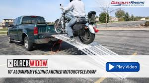100 Motorcycle Ramps For Pickup Trucks Black Widow Aluminum Folding Arched Ramp 10 Long YouTube