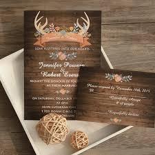 Wood Wedding Invitation