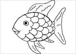 Free Rainbow Printable Invitations Color Sheet For Preschoolers Fish Coloring Page Pages Kids