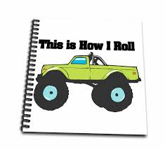 100 Monster Truck Drawing 3dRose This Is How I Roll Book 8 By 8inch