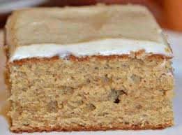 APPLE BUTTER CAKE WITH CINNAMON CREAM CHEESE FROSTING n