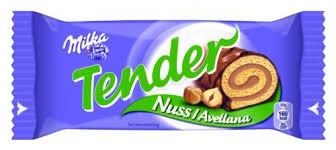 milka tender nuss avellana einzel verpackter mini kuchen 37g
