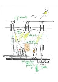 Sketch By Renzo Piano Of The Gallery Lighting Design Concept For New Pavilion