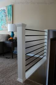 Stair Railing DIY Makeover | Stair Railing, Railings And Stairs Watch This Video Before Building A Deck Stairway Handrail Youtube Remodelaholic Stair Banister Renovation Using Existing Newel How To Paint An Oak Stair Railing Black And White Interior Cooper Stairworks Tips Techniques Installing Balusters Rail Renovation_spring 2012 Wood Stairs Rails Iron Install A Porch Railing Hgtv 38 Upgrade Removing Half Wall On And Replace Teresting Railings For Stairs Installation L Ornamental Handcrafted Cleves Oh Updating Railings In Split Level Home