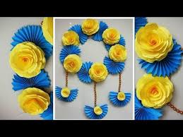 Simple Home Decor Wall Decoration Door Hanging Flower Paper Craft Ideas 12