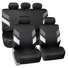100 Neoprene Truck Seat Covers Car For 5 Headrests Gray W Silicone Cup Holder