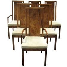 Thomasville Dining Chairs Vintage Burled Wood Set Of Six Table 1970
