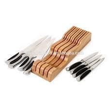 holz messer block in der schublade schubladen messer halter messer organisator buy in schublade bambus messer block schublade messer halter messer