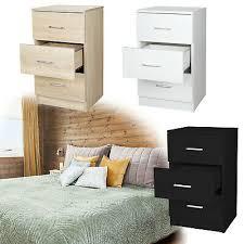 nachttisch nachtkommode mit 3 schubladen modern schlafzimmer