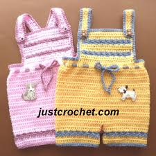 Fjc132Short Pants With Bib Baby Crochet Pattern