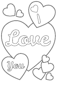 Valentines Day I Love You Hearts Coloring Pages