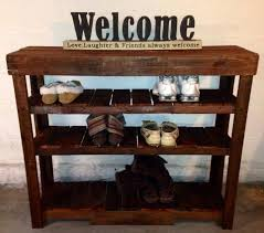 Perfect Pallets Shoe Rack or Entry Table