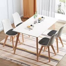4er set esszimmerstuhl kunstleder polstersessel loungesessel stuhl küche esszimmer schwarz und weiß