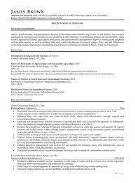 Soil Scientist Of Industry Resume Example
