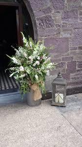 Milk Churn with Flowers & Lantern rustic wedding churn lantern