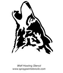 Wolf Pumpkin Template Printable by Spray Paint Stencils Wolf Howling Cartoon Artists That Inspire