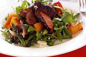 Japanese Pumpkin Salad Recipe by Warm Balsamic Lamb Salad