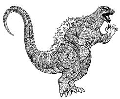 Godzilla Running Wild Coloring Pages