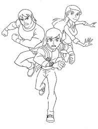Ben 10 Tennyson Gwen And Kevin Levin Colouring Page