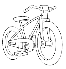 Bicycle Preschool Coloring Pages Transportation