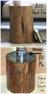 how to make a log end table