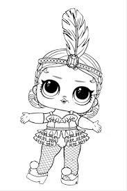 Free Printable LOL Surprise Dolls Coloring Pages Brilliant Lol Doll