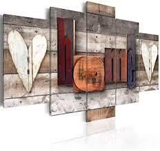 decomonkey bilder home 200x100 cm 5 teilig leinwandbilder bild auf leinwand wandbild kunstdruck wanddeko wand wohnzimmer wanddekoration deko haus