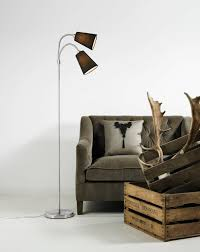 Threshold 3 Arm Arc Floor Lamp by Chic Reading Place Interior Design With Zebra Patterned Bean Bag