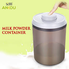 Milk Powder Coffee Tea Leaves Container Push Button Operated