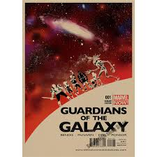 Guardians Of The Galaxy Retro Poster Kraft Paper Bar Cafe Home Decor Painting Wall Sticker In Stickers From Garden On Aliexpress
