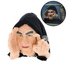 Motion Sensor Halloween Decorations Uk by Halloween Scary Peeper Window Prop Scary Window And Halloween
