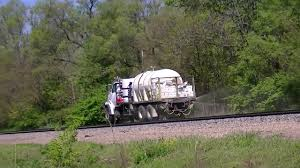 BNSF And Weed Spraying Hi-Rail Trucks Plus Radio Chatter - YouTube