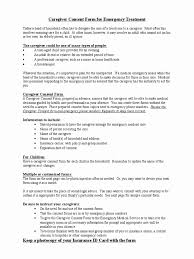 Home Health Aide Care Plan Forms Luxury Caregiver Consent Form For