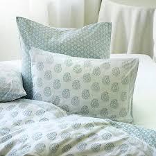 Block Blue and White Print Duvet