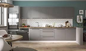 küchenzeile küchenblock modern küche komplett modern 380cm grau graphit