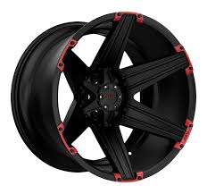 100 Black And Red Truck Rims T12 Off Road By Tuff