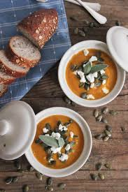 Pumpkin Butternut Squash Soup by Butternut Squash Soup With Roasted Garlic Goat Cheese And Pepitas