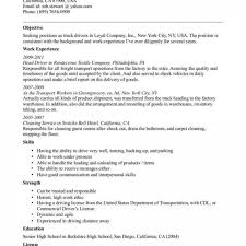Resume Templates Truck Driver Skills And Tow Sample With Regard To Impressive Garbage Examples Cdl Objective