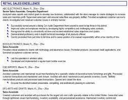 Sample Resume Retail Sales Associate No Experience Luxury